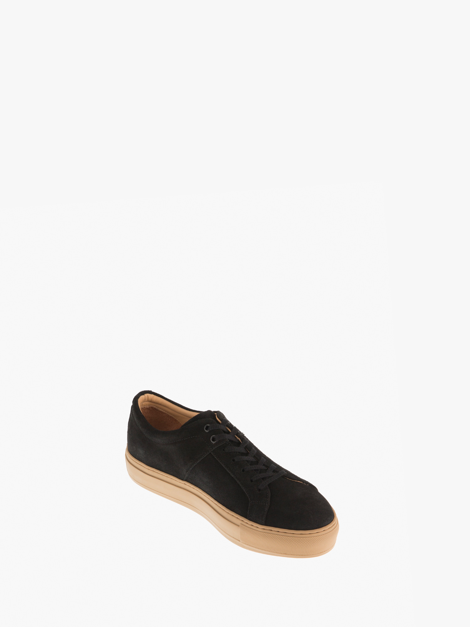 blucher 01 suede clay black