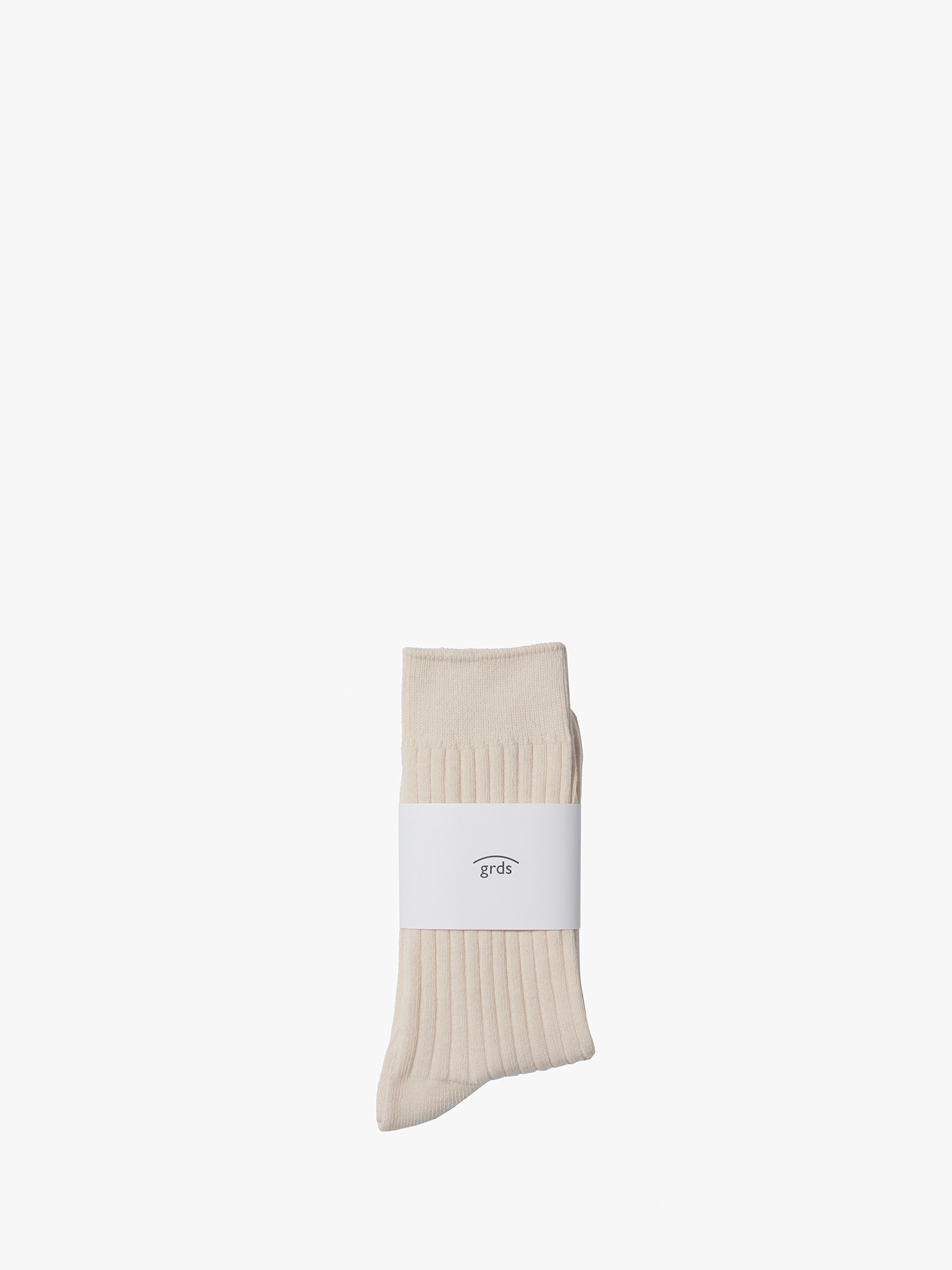 grds ribbed socks ivory