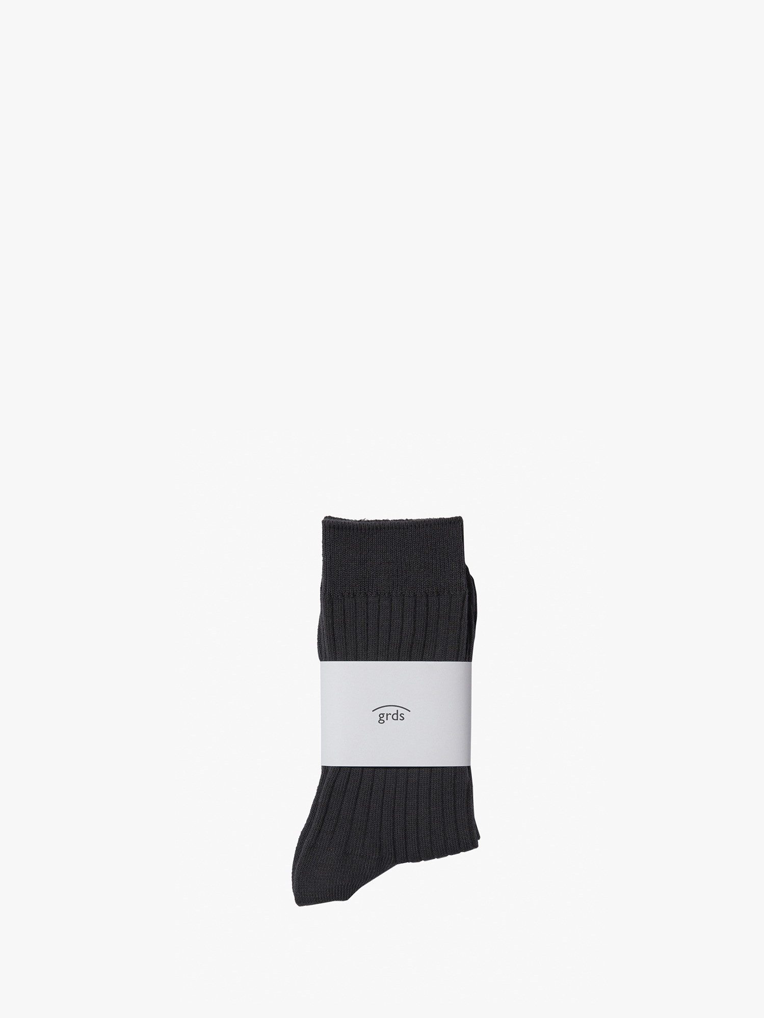 grds ribbed socks charcoal