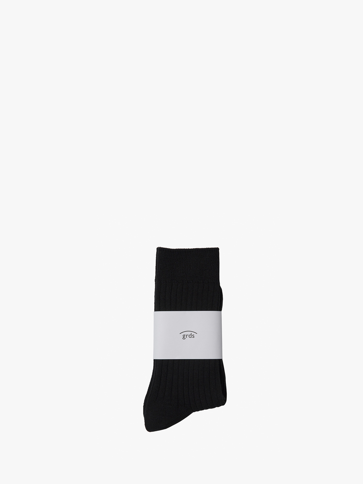 grds ribbed socks black