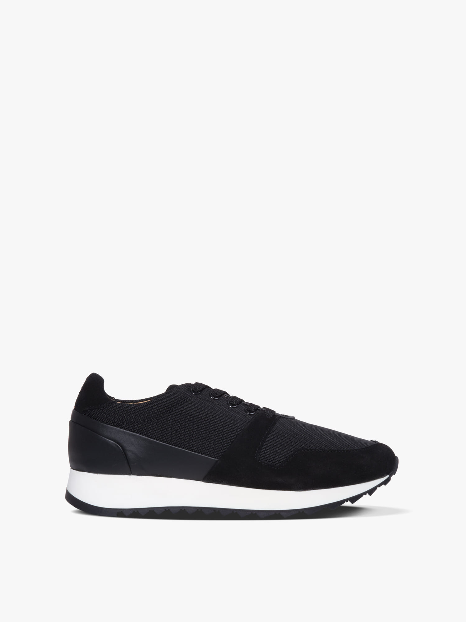 runner 01 leather/cordura black