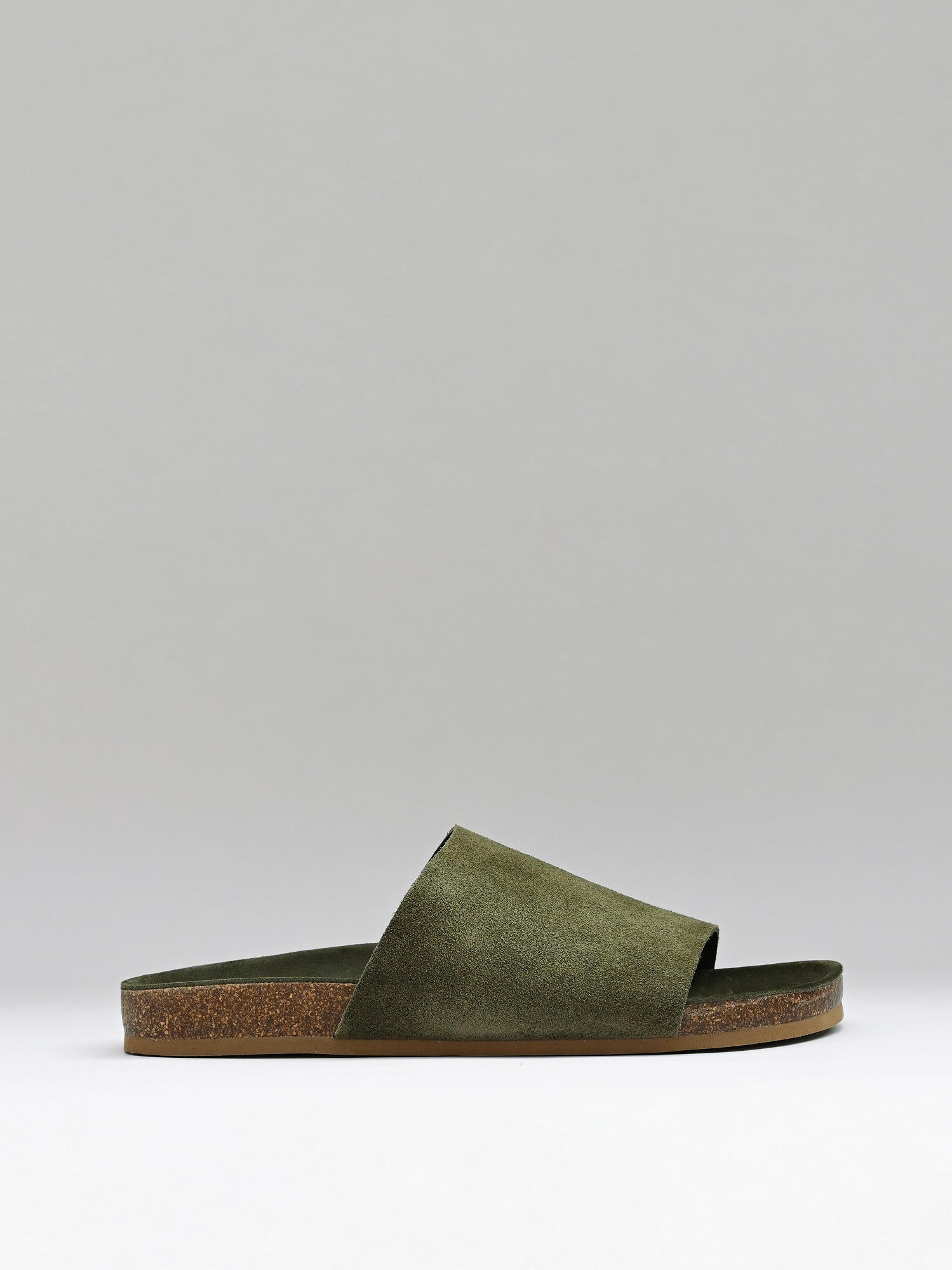 slides 02 suede eastern moss