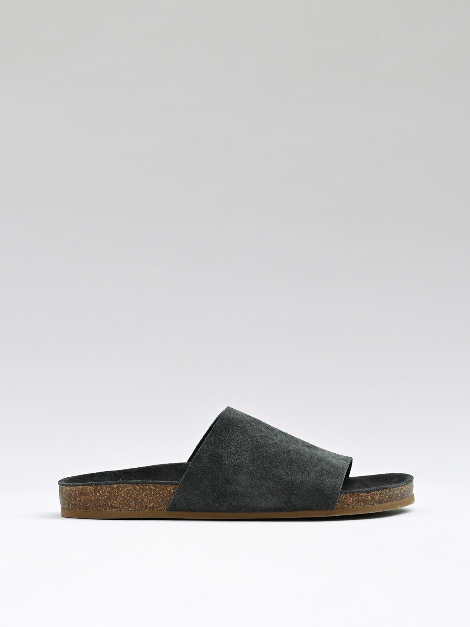 slides 02 suede charcoal
